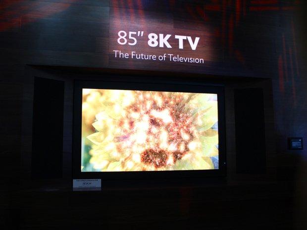 CES 2014: 85 Zoll großer 8K-TV mit 3D-Effekt ohne Brille von Sharp