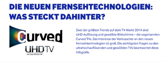UHD und Fernseher im Curved Design einfach erklärt