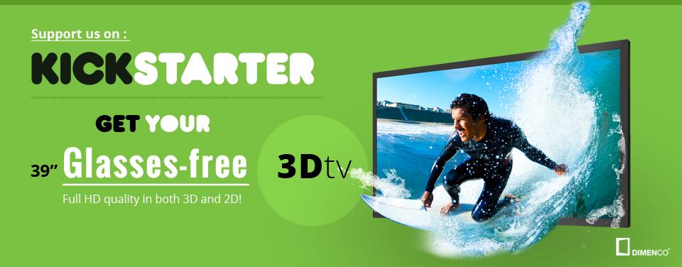 Kickstarter-Projekt von Dimenco: Brillenloser 4k-TV mit 3D für 899 Euro