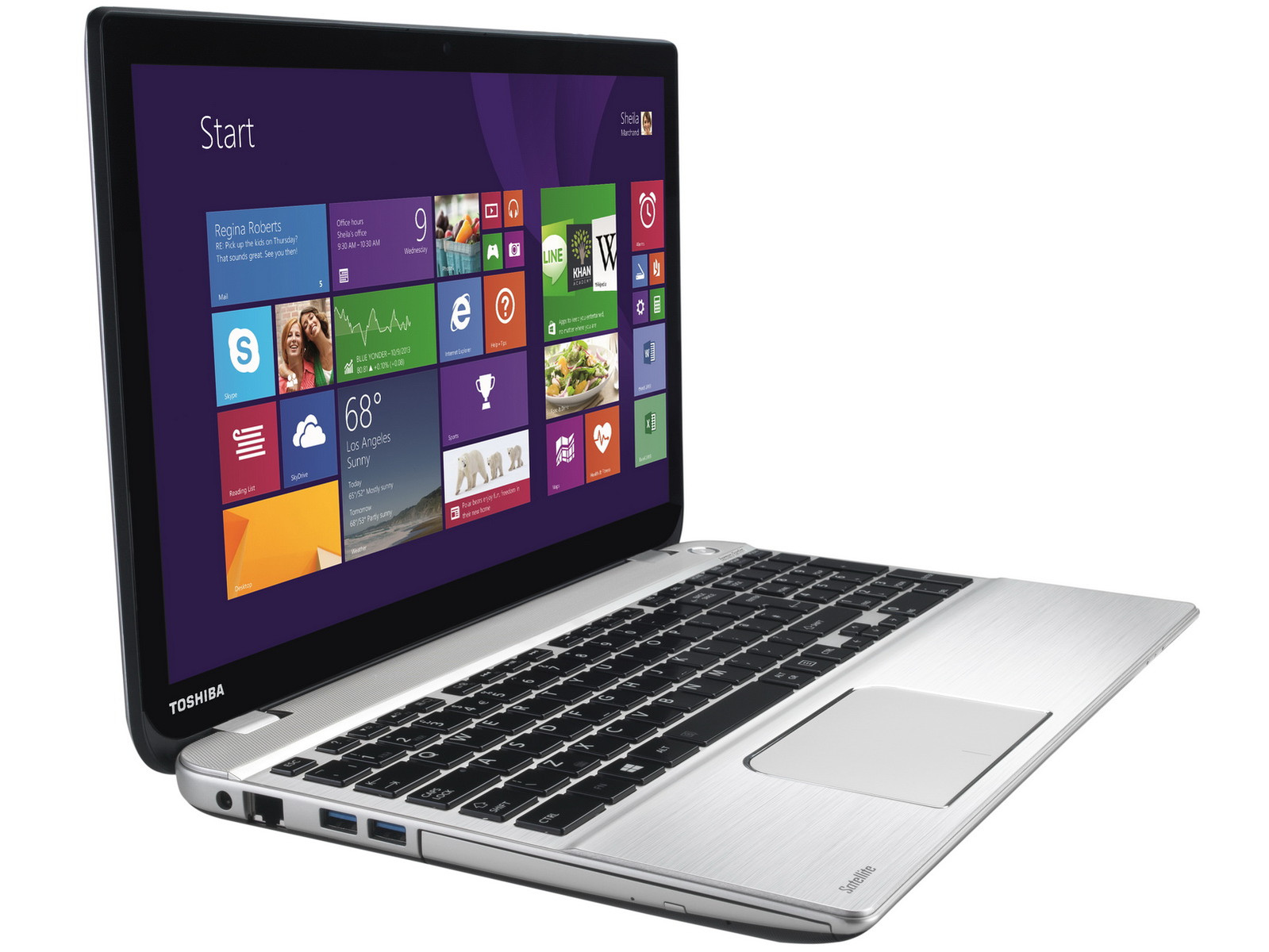 Toshiba Multimedia-Notebook - Satellite P50t-B-108 mit UHD-Display