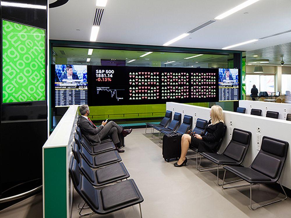 """Bloomberg setzt auf UHD beim """"Bloomberg Hub"""" im London-City Airport"""