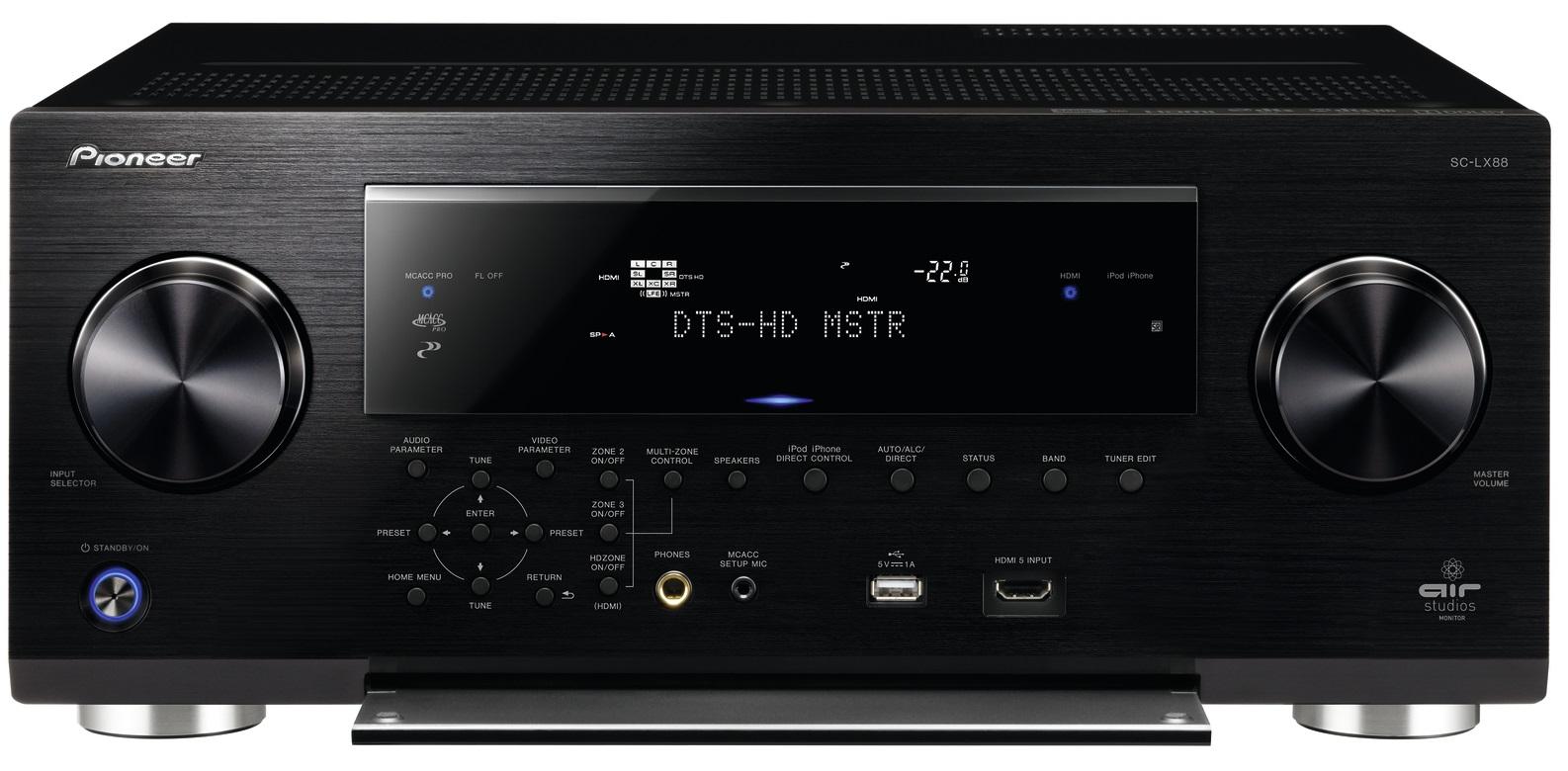 Pioneer SC-LX88, SC-LX78 und SC-LX58: 4k Receiver mit Dolby Atmos